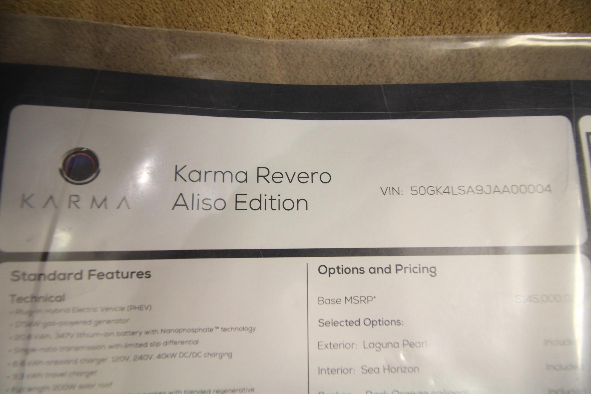 Used 2018 KARMA REVERO ALISO ALISO   Albany, NY