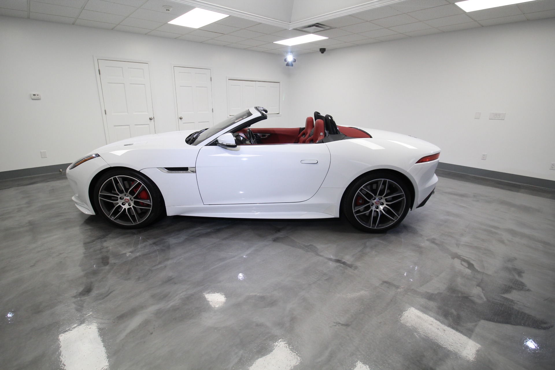 Used 2017 Jaguar F-Type R CONVERTIBLE AWD STUNNING COLOR COMBO WHITE ON RED WITH RED TOP | Albany, NY