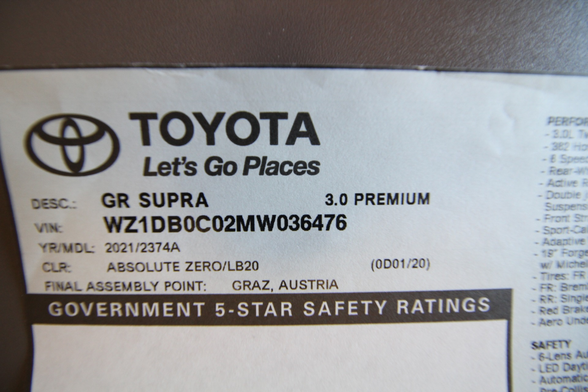 Used 2021 Toyota GR Supra 3.0 Premium LIKE NEW 1 OWNER OLDER PERSON ALL ORIGINAL | Albany, NY