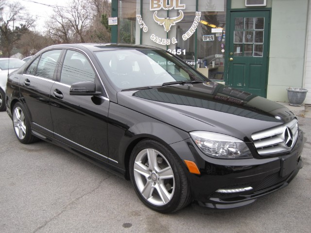 2011 mercedes benz c class c300 4matic sport awd one owner trade in black on black stock 14050. Black Bedroom Furniture Sets. Home Design Ideas