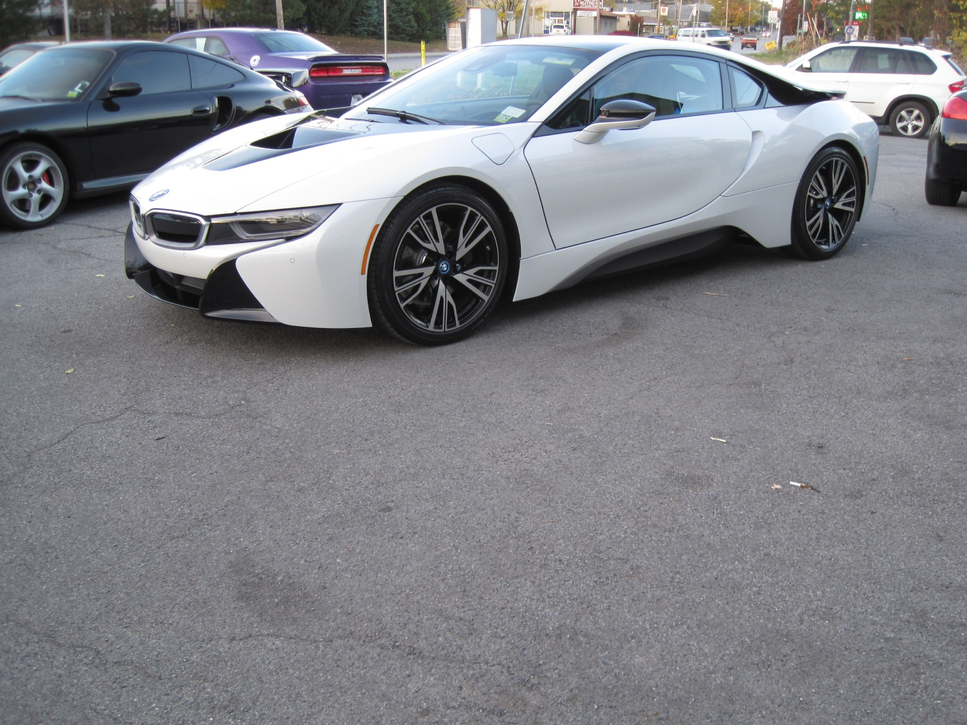2014 Bmw I8 Tera World Package Crystal White Metallic With Frozen