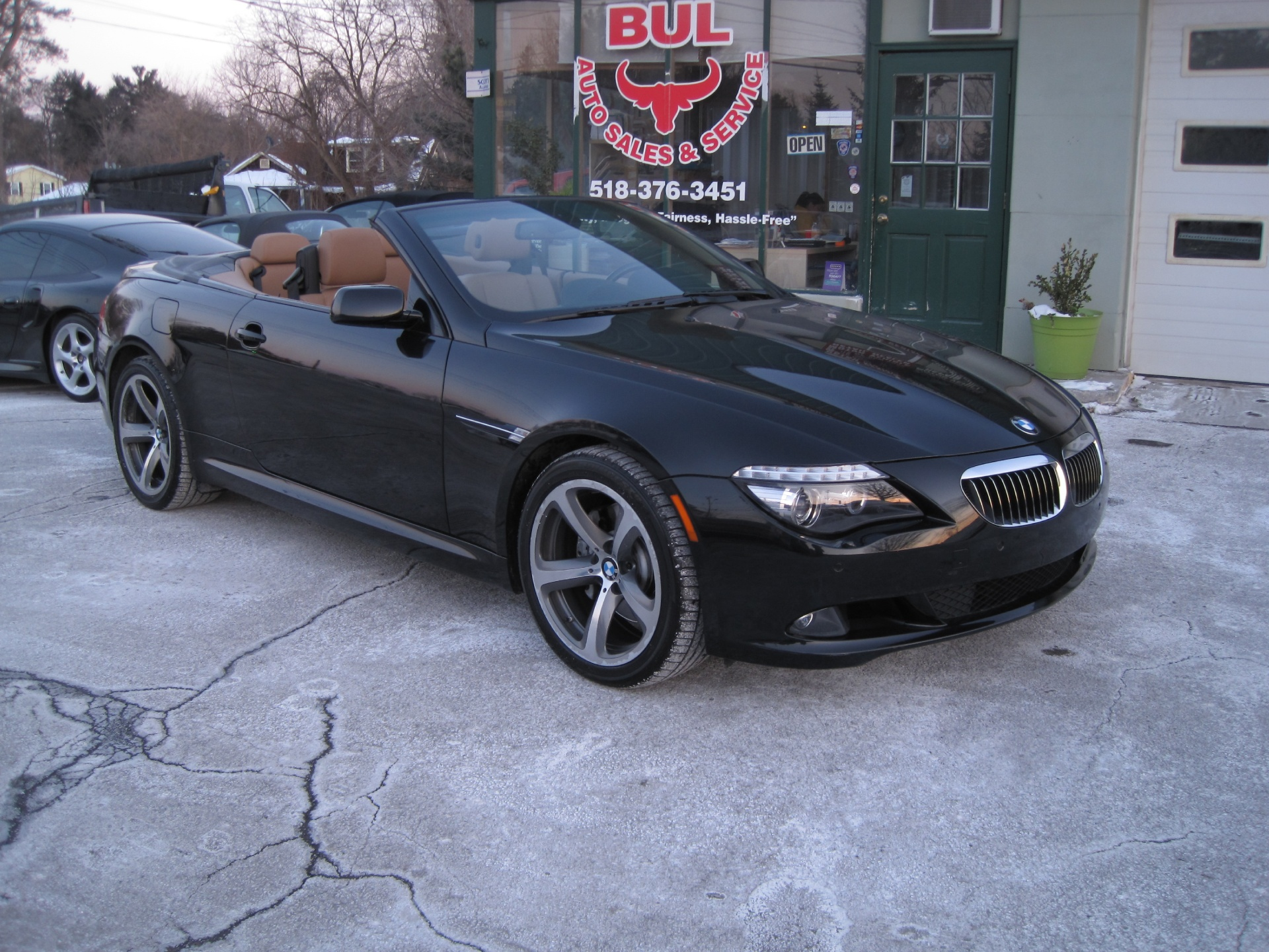 2009 BMW 6 Series 650i CONVERTIBLE BLACK ON BROWN SPORT PACKAGE