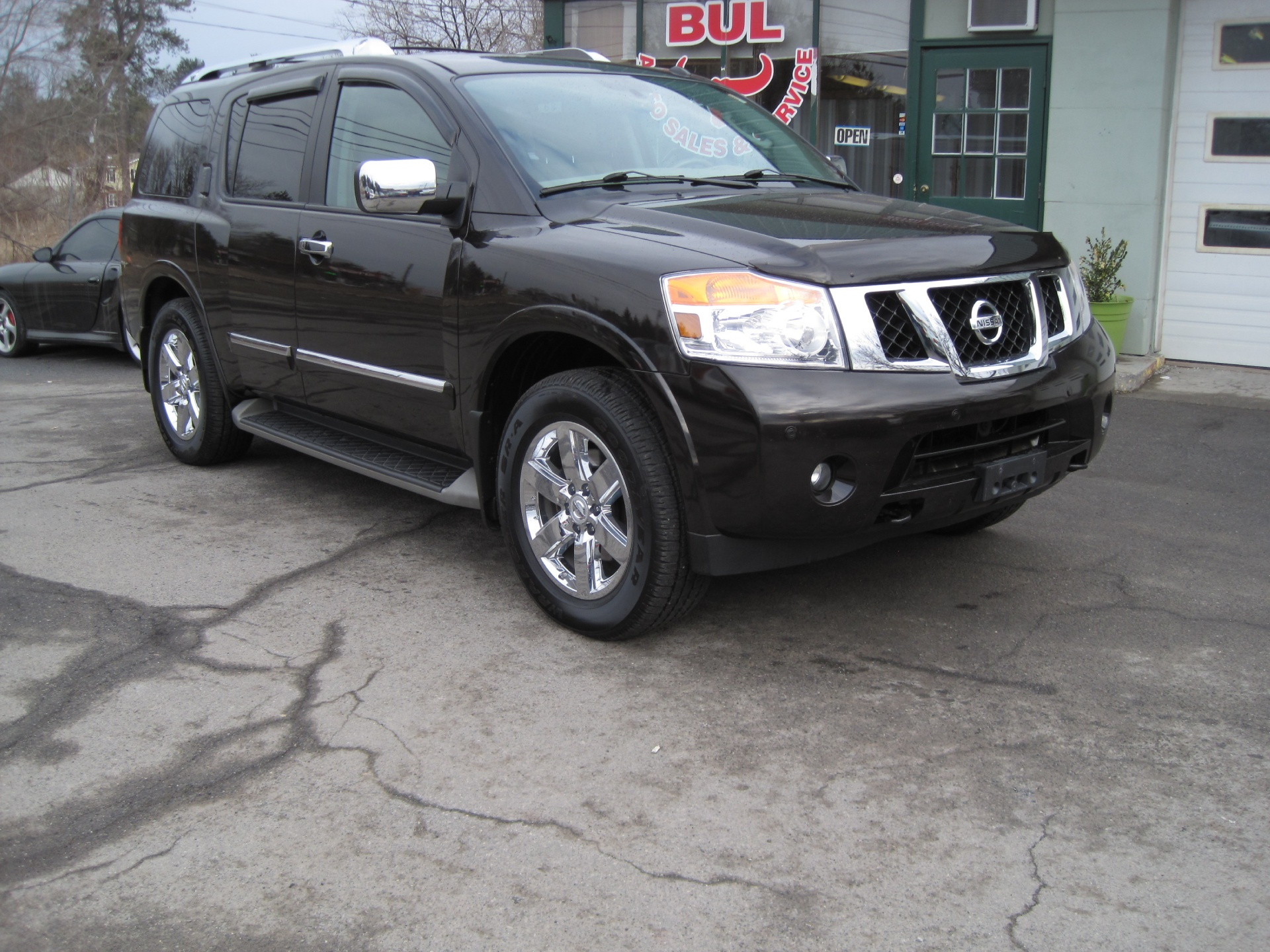 2011 nissan armada platinum 4wd 4x4 loaded rear entertainment leather sunroof 3rd row stock. Black Bedroom Furniture Sets. Home Design Ideas